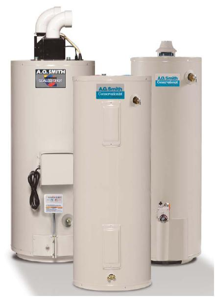 ao smith conventional water heaters